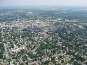Downtown Findlay from the air-1-