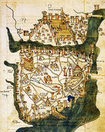 Map of Constantinople (1422) by Florentine cartographer Cristoforo Buondelmonte-1-