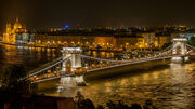 Széchenyi Chain Bridge in Budapest at night-1-