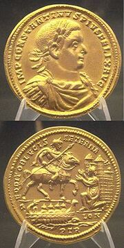 200px-Constantius I capturing London after defeating Allectus Beaurains hoard