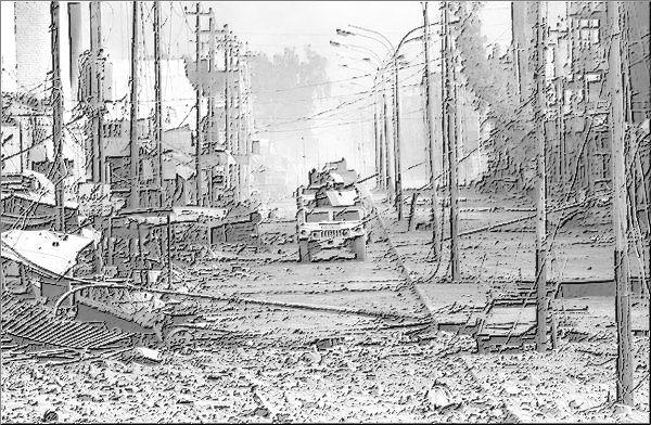File:Damaged city pencil.jpg