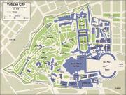 Vatican city map