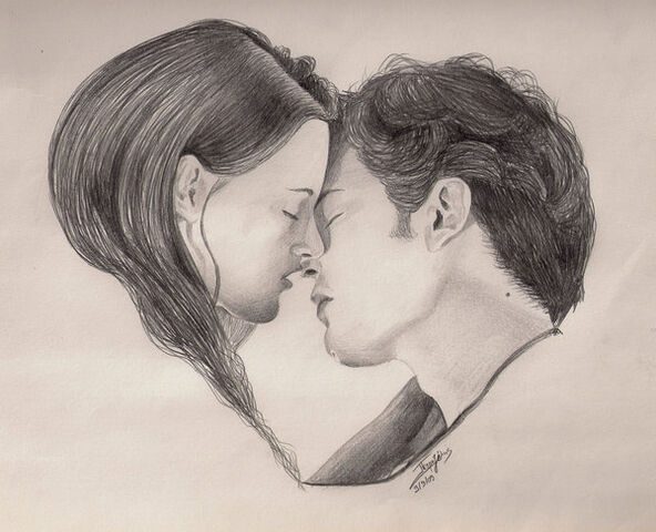 File:Edward and Bella Twilight Kiss by petrosptrs.jpg