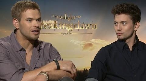 Kellan Lutz & Jackson Rathbone on Vampire Flash Mob & More - Breaking Dawn Part 2 Junket
