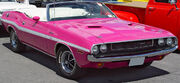 1970-Dodge-Challenger-RT-Convertible-Pink-Front-Angle-sy