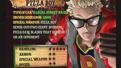 Twisted Metal 4 - Pizza Boy's Info