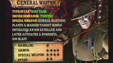 Twisted Metal 4 - General Warthog's Info