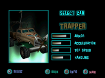 Twisted Metal - Small Brawl - Trapper carsel