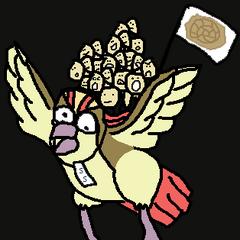 Bird Jesus carries his followers.