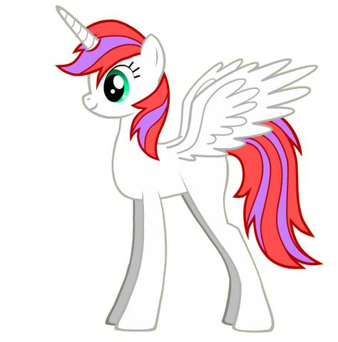 File:Lightning flash alicorn white.png