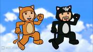 Super Mario 3D World Cats
