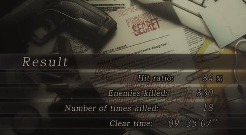 Resident Evil 4 HD Result