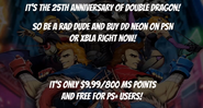 Double Dragon Neon Outro Text
