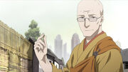 Cummings as a Buddhist monk