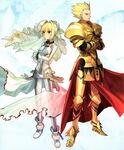 Saber and gilgamesh