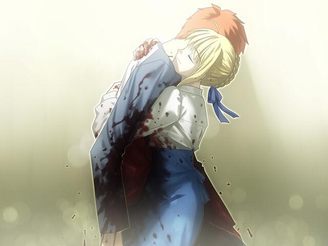 File:Saber holds Shirou.jpg