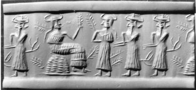 Mesopotamian - Cylinder Seal - Walters 42564 - Impression
