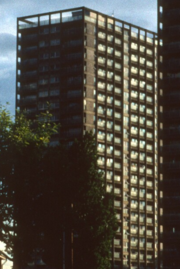 Arthur Punshon Tower on Oliver Close estate