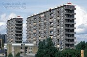 A161-00085 Demolition of Queen Elizabeth Square flats Gorbals Glasgow Built in 1965 demolished 1993 Scotland