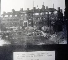 Millpond estate in construction 1935 courtesy of John Kennedy library Archive Borough high st.