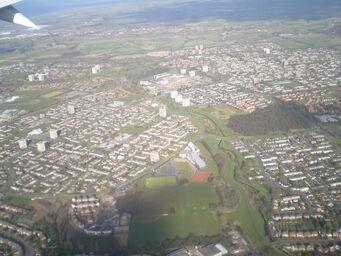 Aerial Shot Takeoff Birmingham International Airport 2008 - Chelmsley Wood, Marston Green, Fordbridge, Bacon's End, Hams Hall & Coleshill