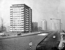Kellet Road Estate, Nechells Parkway (A47) Viewed From Ring Road... Nechells Green; Aston; Birmingham.