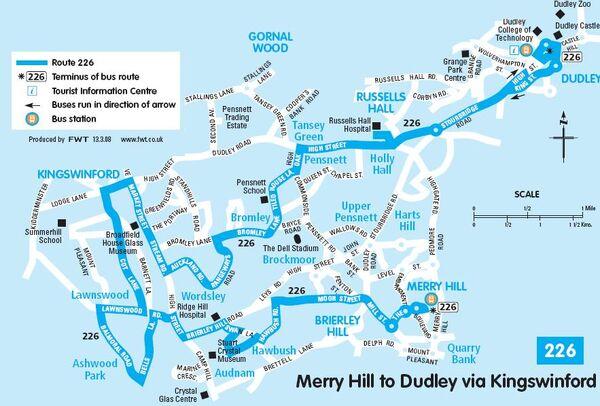 226 Hansons route map