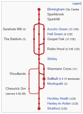 Stratford Rd route diagram 2