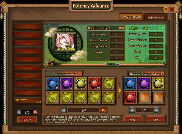 Potency Advance Grid