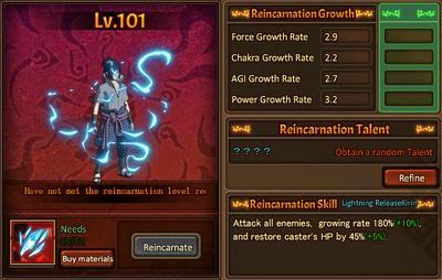 Reincarnation One lvl 100 Sasuke