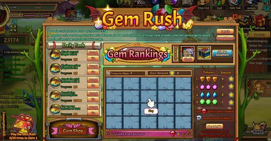 Gem Rush Interface