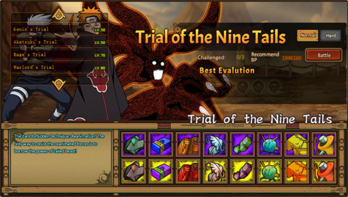 Trial of the Nine Tails Grid