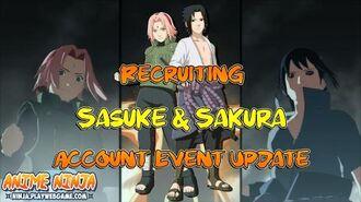Anime Ninja - Recruiting Sasuke & Sakura Account Event Update - Naruto Games - Browser Online