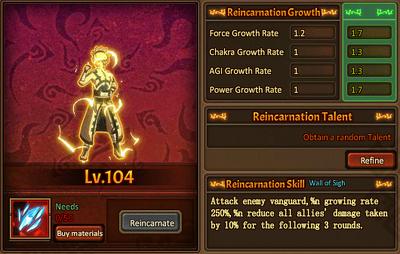 Reincarnation One Taijutsu Main Male