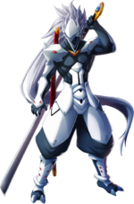 Hakumen (Chrono Phantasma, Character Select Artwork)
