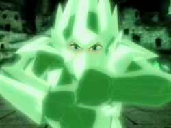 Aang's crystal armor