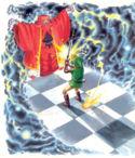 Link vs. Agahnim (artwork)