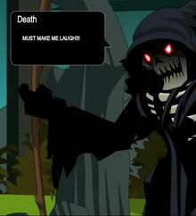 Death-laugh
