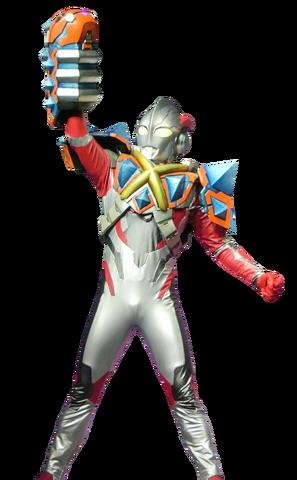 File:Ultraman X Skedon Armor Render.png