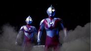 TIga and ultraman