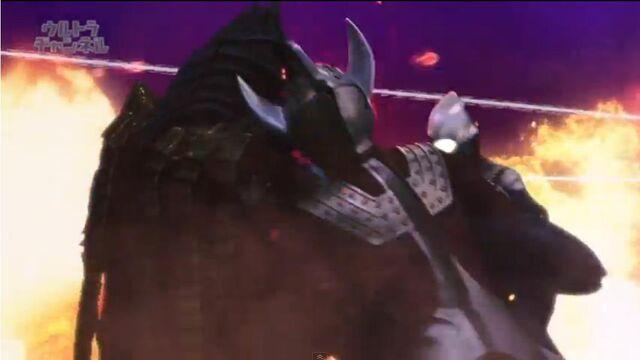 File:Tiga vs Golza and Taro vs Temperor.JPG