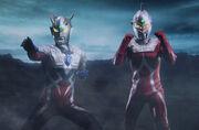 Ultraman Zero & Ultraseven in Shin Ultraman Retsuden