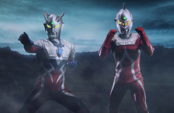 File:Ultraman Zero & Ultraseven in Shin Ultraman Retsuden.jpg
