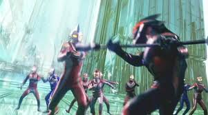 File:Ultraman Belial fighting almost all of the ultra warriors.jpeg