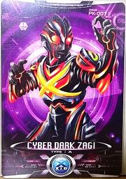 Ultraman X Cyber Dark Zagi Card