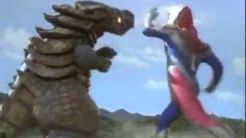 Ultraman Dyna vs Glossena