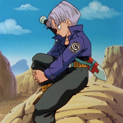 Future Trunks waiting for Goku