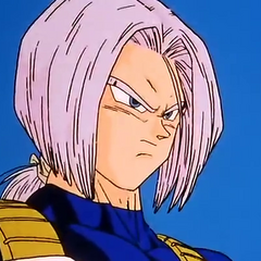 Future Trunks watching Vegeta fight Cell