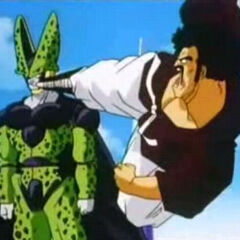Mr. Satan fighting Cell