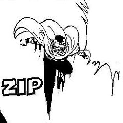 Piccolo Evading Krillin's attack.